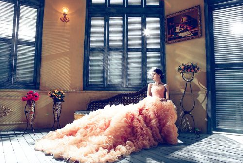 Long Beautiful Wedding Dress, Best Design By Xiao Long